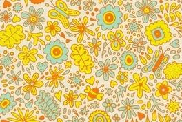 黄色时尚花纹网页背景