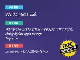 ZCOOL Addict Italic英文字体下载