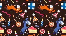 小驢棒棒糖蛋糕卡通網頁背景