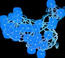 中国地图线条地图