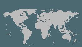 纯色扁平化世界地图