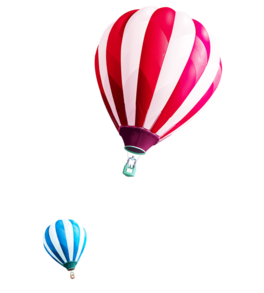 漂浮热气球png素材