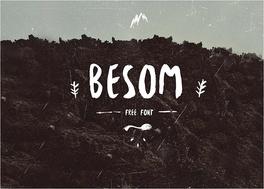 Besomfreefont英文书法字体