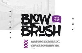 blowbrush英文书法字体