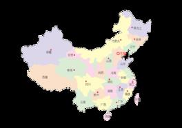 中国四色透明地图
