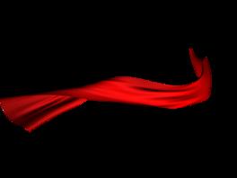 漂浮红丝带png