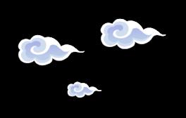 卡通扁平化云彩云朵